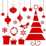 Christmas elements. Christas elements isolated,  illustration Stock Photography