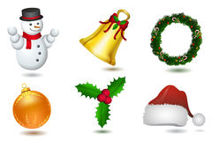 Christmas elements Stock Image