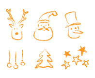 Christmas elements. For design picture Royalty Free Stock Image
