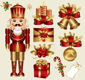 Christmas elements stock illustration