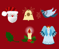 Christmas elements. Beautiful collection of christmas elements Stock Image