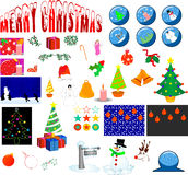 Christmas elements. Lots of illustrations of christmas elements Royalty Free Stock Photos