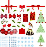 Christmas elements. Lots of christmas / holiday illustrations Stock Image