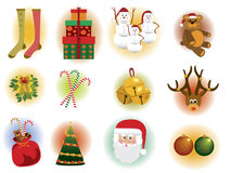 Christmas elements. Cute Christmas clip arts and elements Royalty Free Stock Images