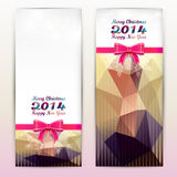 Christmas elements for christmas and New Year holi. Christmas elements on a colorful background stock illustration