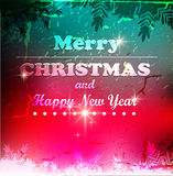 Christmas elements for christmas and New Year holi. Christmas elements on a colorful background Stock Photo