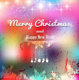 Christmas elements for christmas and New Year holi. Christmas elements on a colorful background Royalty Free Stock Photography