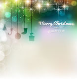 Christmas elements for christmas and New Year holi. Christmas elements on a colorful background Stock Images