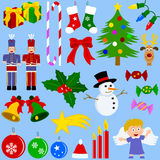 Christmas Elements Collection Royalty Free Stock Photography