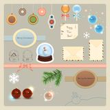 Christmas elements collection Royalty Free Stock Image