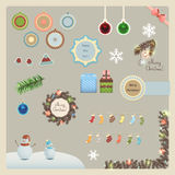 Christmas elements collection Stock Image