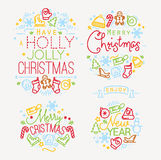 Christmas elements color Royalty Free Stock Photos