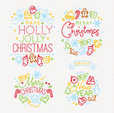 Christmas elements color Royalty Free Stock Image