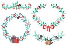 Christmas elements stock illustration