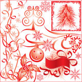 Christmas elements for design, vector Royalty Free Stock Photos