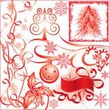 Christmas elements for design, vector stock illustration