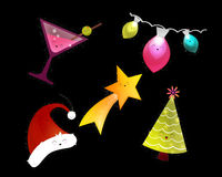 christmas elements happy holiday Στοκ εικόνα με δικαίωμα ελεύθερης χρήσης
