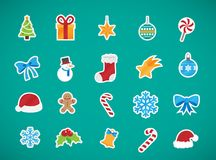 Christmas Elements icons Collection Stock Photos