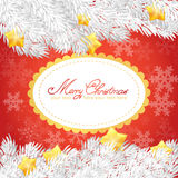 Christmas elements invitation golden card Royalty Free Stock Photos