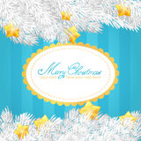 Christmas elements invitation golden card Stock Image