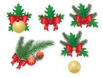Christmas elements isolated on white Royalty Free Stock Image
