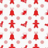 Christmas elements pattern Royalty Free Stock Image