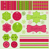 Christmas elements and patterns Stock Photography