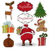 Christmas elements set Royalty Free Stock Image