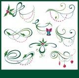 Christmas elements set Royalty Free Stock Image
