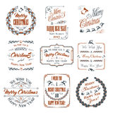 Christmas Elements Set Stock Photography
