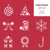 Christmas elements set vector Royalty Free Stock Photo