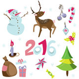 Christmas elements set. Vector icons. Design elements collection. Royalty Free Stock Images