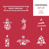 Christmas elements set vector Royalty Free Stock Photos