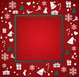 Christmas elements with space  pattern background vector illustration Royalty Free Stock Image