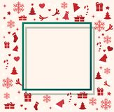 Christmas elements with space  pattern background vector illustration Royalty Free Stock Images