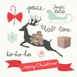 Christmas Elements and Symbols. Vector Illustration vector illustration