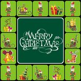 Christmas elements with text Stock Image