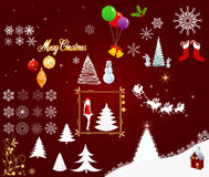 Christmas elements vector Stock Image
