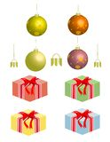 Christmas Elements! Vector / Clip Art. A grouping of vector Christmas elements including various gifts and decorations Stock Image