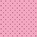 Christmas elements. Vector pink Seamless pattern with snowflakes. Seamless pattern with christmas elements. Vector pink Seamless pattern with snowflakes Royalty Free Stock Photography