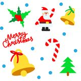 Christmas elements vector seamless pattern Stock Images