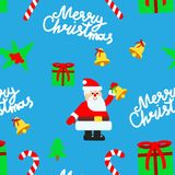 Christmas elements vector seamless pattern Stock Photography