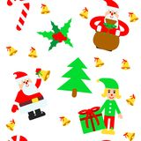 Christmas elements vector seamless pattern Royalty Free Stock Photos