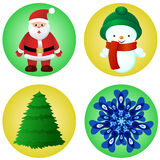 Christmas elements vector set Stock Photography