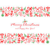 Christmas elements on white background Royalty Free Stock Images