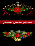 Christmas elements for your designs Royalty Free Stock Photography