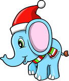 Christmas Elephant vector Stock Image
