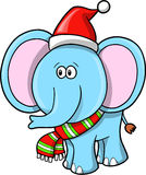 Christmas Elephant vector Royalty Free Stock Image