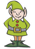 Christmas Elf. Jolly Green Chirstmas Elf with Red Buttons Royalty Free Stock Photos
