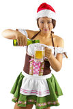 Christmas Elf Bartender Stock Photography